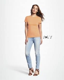 Klasikiniai marškinėliai moterims