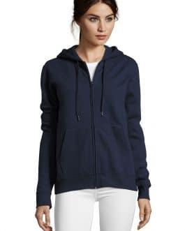 Moteriškas džemperis su užtrauktuku ir gobtuvu 290