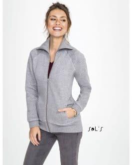 Moteriškas džemperis su užtrauktuku