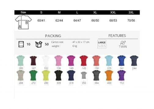 Moteriški marškinėliai V formos spalvos