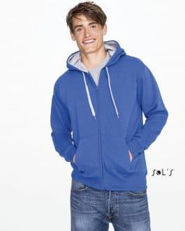 Vyriškas džemperis su užtrauktuku ir gobtuvu