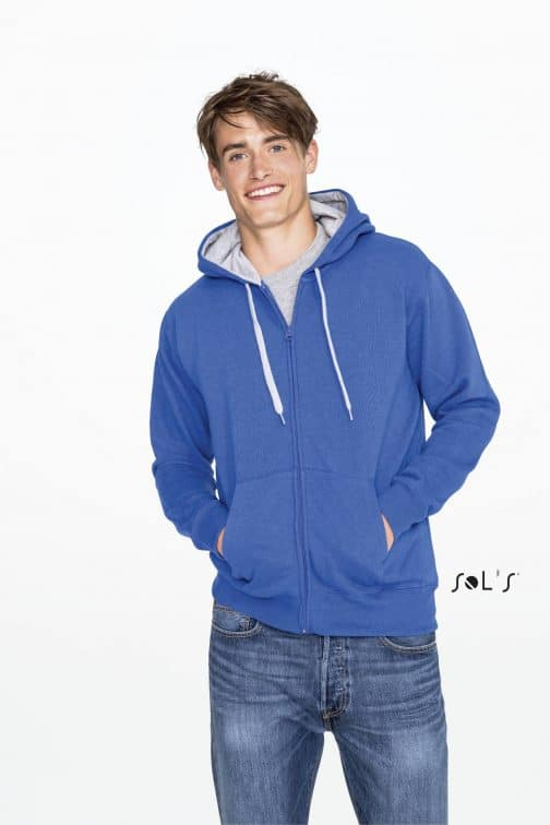 Vyriškas džemperis su gobtuvu ir užtrauktuku