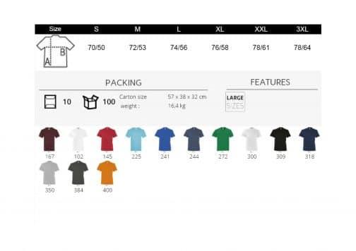 Vyriški marškinėliai V formos spalvos