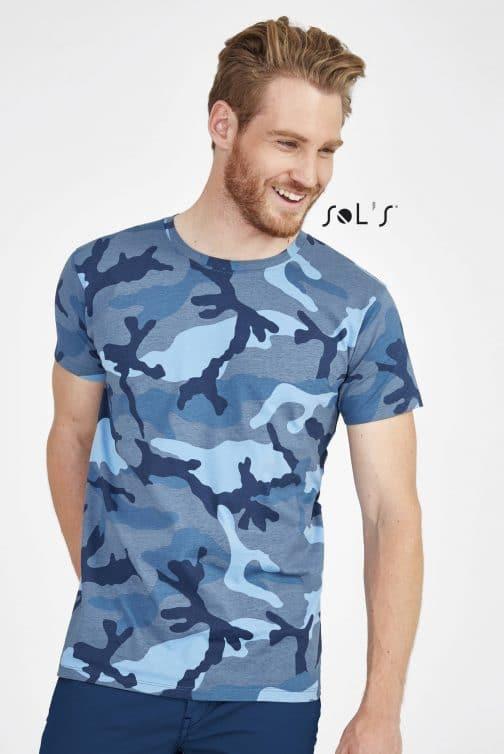 Kamufliažiniai vyriški marškinėliai