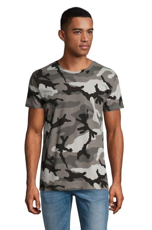 Kamufliažiniai vyriški marškinėliai pilki