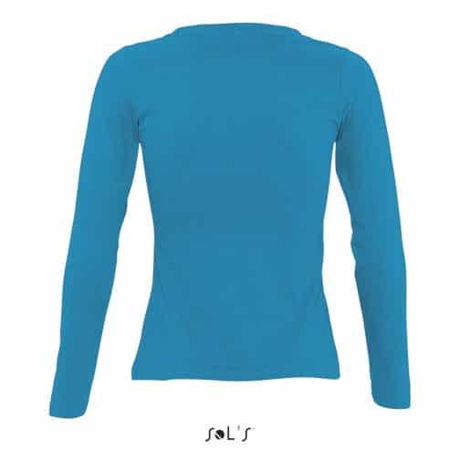 Moteriški marškinėliai ilgomis rankovėmis nugara