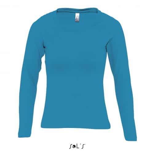 Moteriški marškinėliai ilgomis rankovėmis priekis