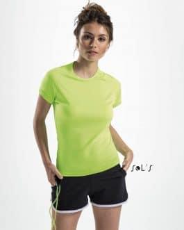 Moteriški sportiniai marškinėliai
