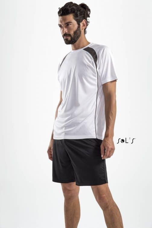 Vyriški dviejų spalvų sportiniai marškinėliai