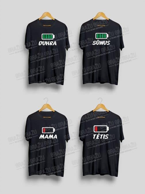 Šeimos marškinėliai Baterija