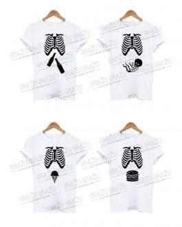 Šeimos marškinėliai Skeletas