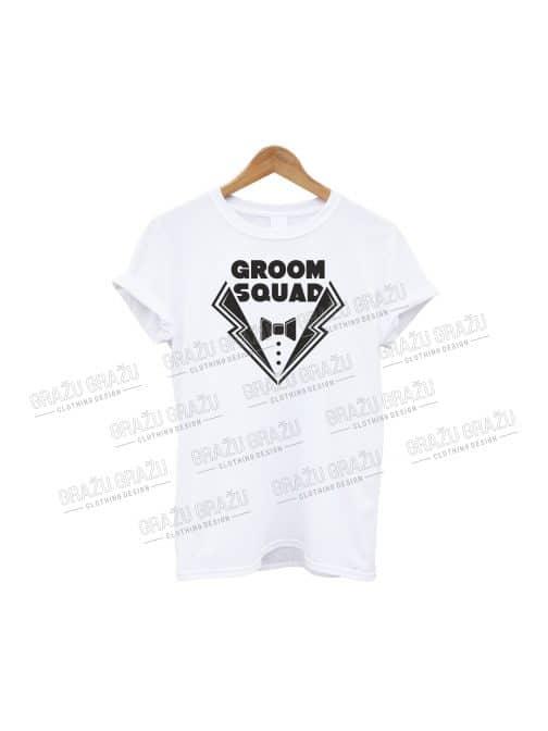Bernvakario marškinėliai Groom Squad