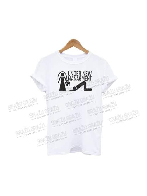 Bernvakario marškinėliai Under New Managment