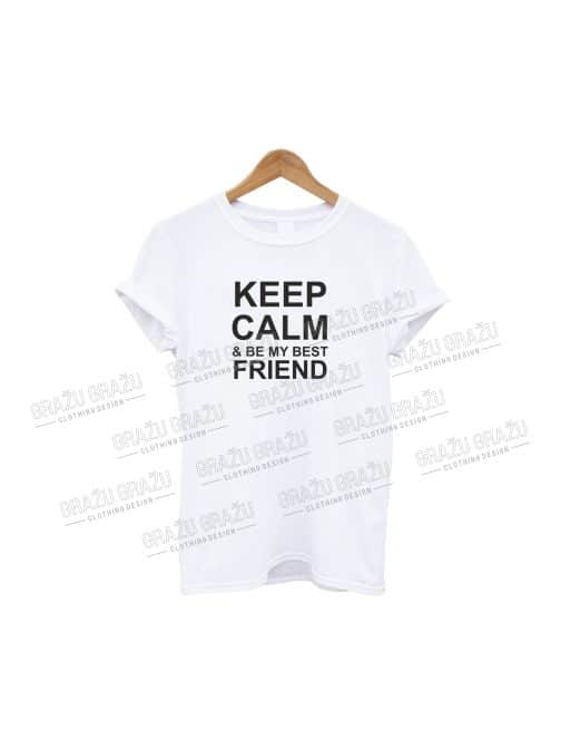 Draugų marškinėliai Keep Calm