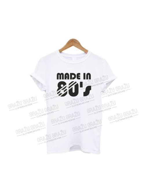 Gimtadienio marškinėliai Made in 80's