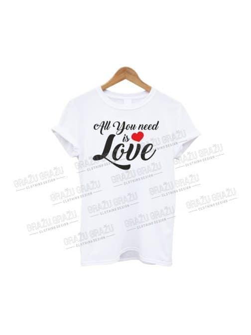 Meilės marškinėliai All you need