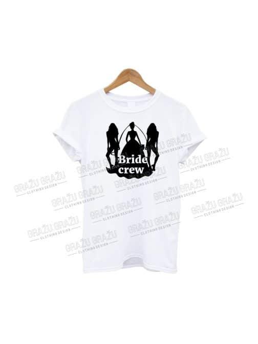 Mergvakario marškinėliai Bride Crew
