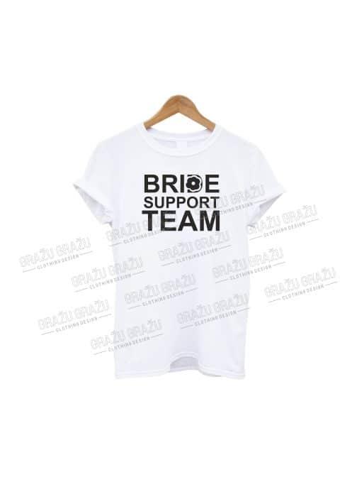 Mergvakario marškinėliai Bride Support Team