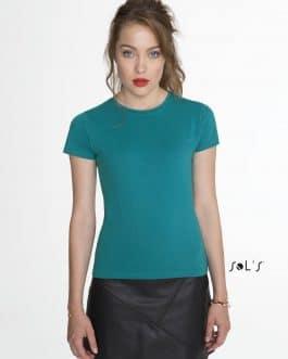 Moteriški prigludę marškinėliai