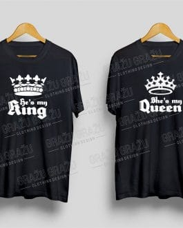 """Marškinėliai poroms """"King and Queen"""""""