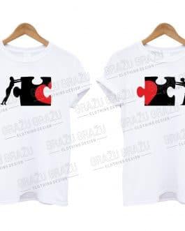 """Marškinėliai poroms """"Puzzle"""""""