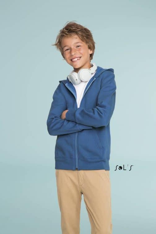 Vaikiški džemperiai su gobtuvu ir užtrauktuku