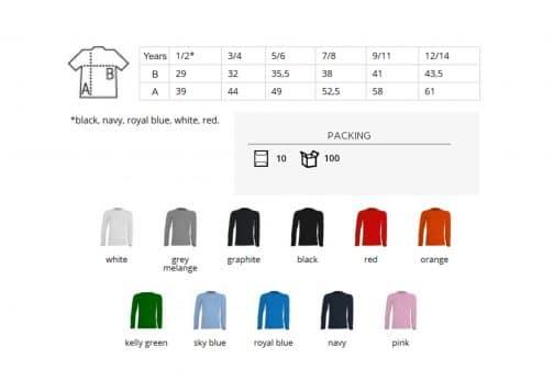 Vaikiški marškinėliai ilgomis rankovėmis 155 spalvos