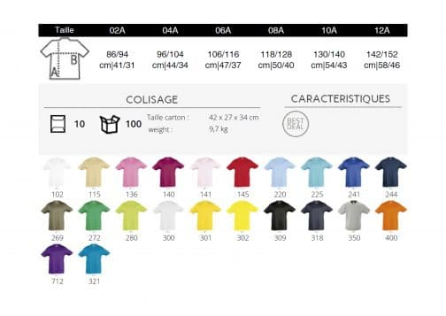 Vaikiški marškinėliai spalvos