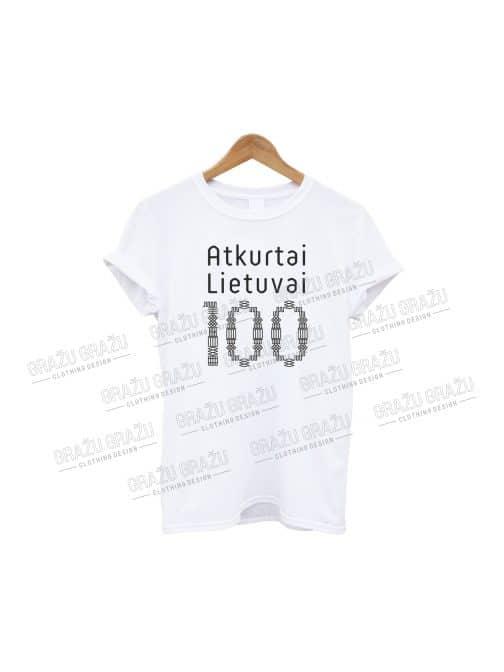 Marškinėliai Atkurtai Lietuvai 100