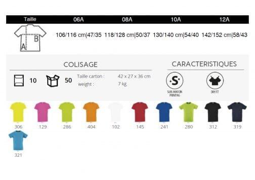 Vaikiški sportiniai marškinėliai spalvos