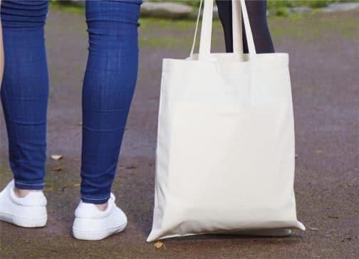 Medvilninis pirkinių krepšys