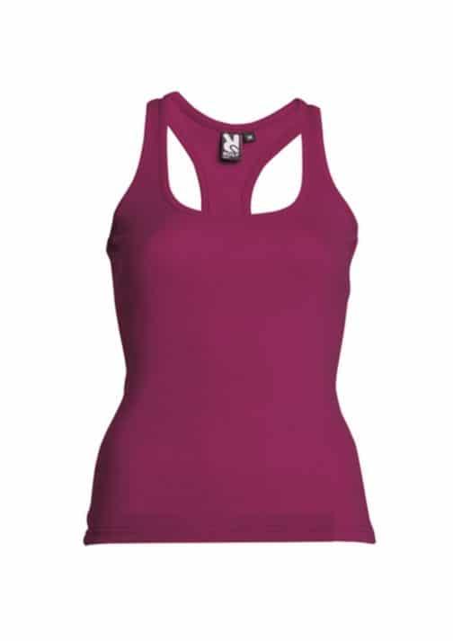 Moteriški berankoviai marškinėliai bordo