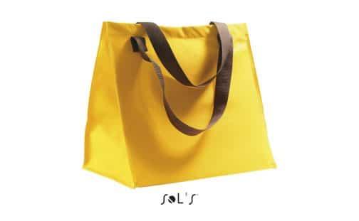 Poliesterinis pirkinių krepšys geltonas