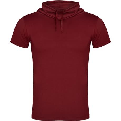 Vyriški marškinėliai paaukštinta apykakle bordo