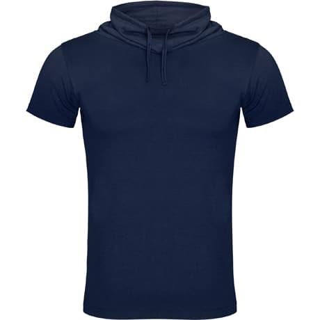 Vyriški marškinėliai paaukštinta apykakle navy