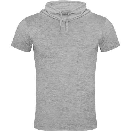 Vyriški marškinėliai paaukštinta apykakle pilki