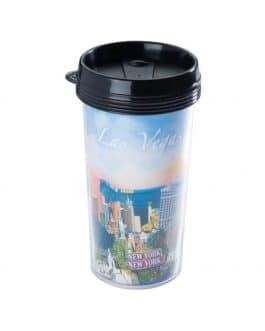 Plastikinis puodelis su spauda