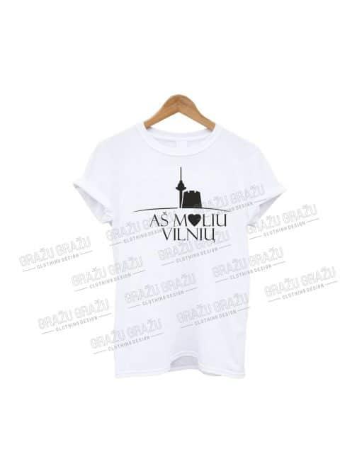 Marškinėliai Myliu Vilnių
