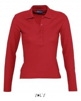 Moteriški polo marškinėliai ilgomis rankovėmis