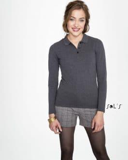 Moteriški polo marškinėliai ilgomis rankovėmis 180