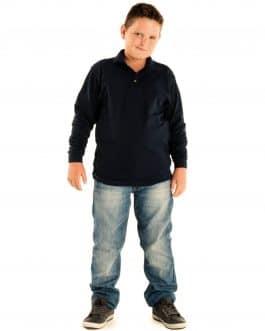 Polo vaikiški marškinėliai ilgomis rankovėmis