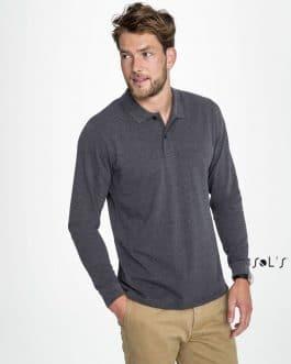 Vyriški polo marškinėliai ilgomis rankovėmis 180