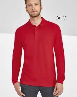 Vyriški polo marškinėliai ilgomis rankovėmis
