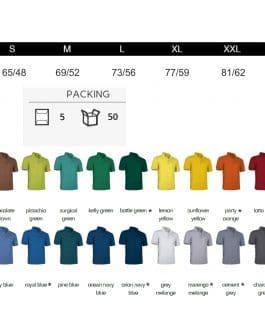 Moteriški polo marškinėliai 220 (unisex) (30vnt.)