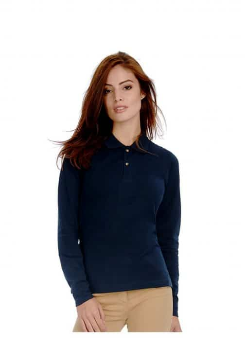 Unisex polo marškinėliai ilgomis rankovėmis