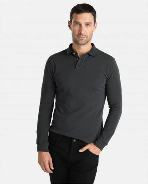 Vyriški polo marškinėliai ilgomis rankovėmis (unisex)