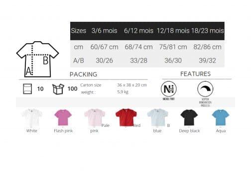 Marškinėliai kūdikiams charakteristikos