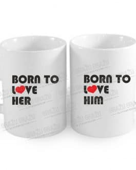 """Meilės puodeliai poroms """"Born to love"""""""