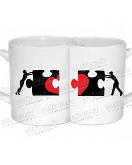 """Meilės puodeliai poroms """"Puzzle"""""""