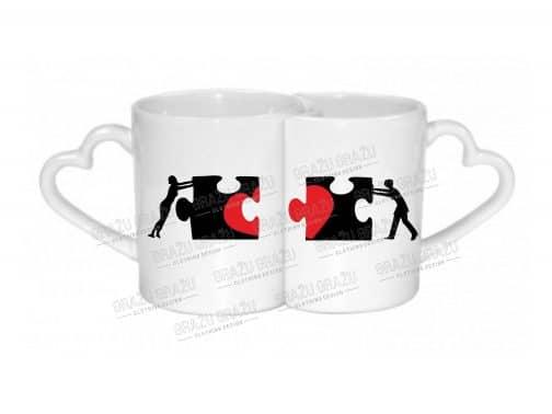 Meilės puodeliai Puzzle
